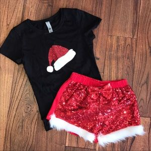 Next level girls Christmas outfit